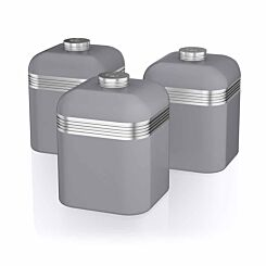 Swan Retro Canisters Set of 3 Grey
