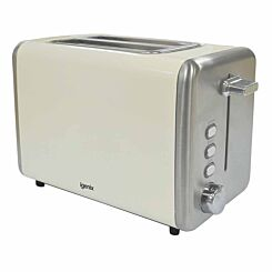 Igenix 2 Slice Toaster with Stainless Steel Cream