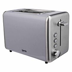 Igenix 2 Slice Toaster with Stainless Steel Grey