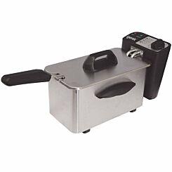 Igenix Brushed Stainless Steel Mini Fryer 1.5 Litre