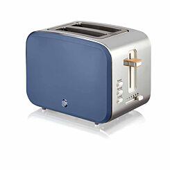 Swan 2 Slice Nordic Toaster 900W Blue