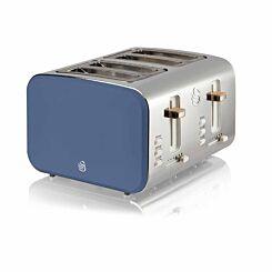 Swan 4 Slice Nordic Toaster 1500W Blue