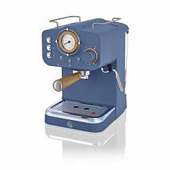 Swan Nordic Espresso Coffee Machine Blue