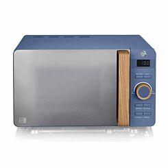Swan Nordic Digital Microwave 20L 800W Blue