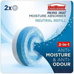 Unibond Aero 360 Moisture Absorber Neutral Refills Pack of 2