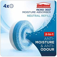 Unibond Aero 360 Moisture Absorber Neutral Refills Pack of 4