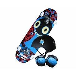 Charles Bentley Junior Monster Skateboard and Safety Set