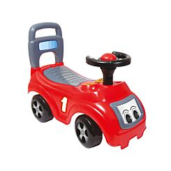 Charles Bentley Dolu Kids Push Along Sit n Ride Car with Under Seat Storage Red