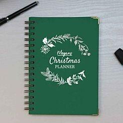 Personalised Christmas Planner Heritage Notebook