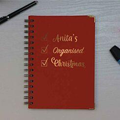 Personalised Organised Christmas Heritage Notebook