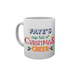 Personalised Christmas Cheer Mug