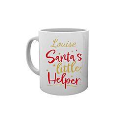 Personalised Santas Little Helper Mug