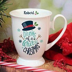 Personalised White Christmas Mug