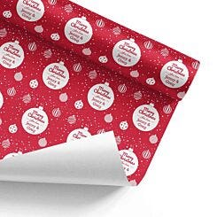 Ryman Personalised Christmas Bauble Wrapping Paper 1m x 1m