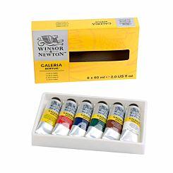 Winsor and Newton Galeria Acrylic Paint 60ml Set of 6