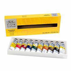 Winsor and Newton Galeria Acrylic Paint 60ml Set of 10
