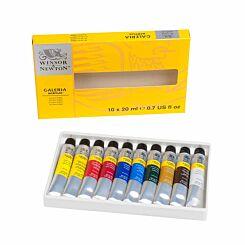 Winsor and Newton Galeria Acrylic Paint 20ml Set of 10
