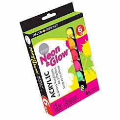 Daler Rowney Simply Neon Acrylic Paint Set of 6