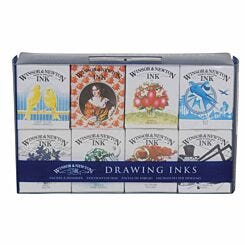 Winsor and Newton Henry Collection Drawing Ink Set of 8