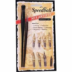 Speedball No 5 Artists Pen Set