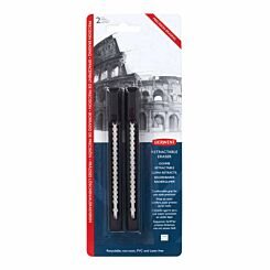 Derwent Retractable Eraser Pack of 2
