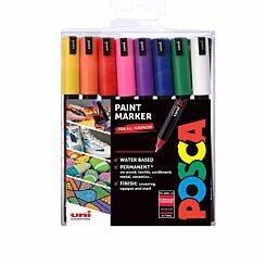 Uni Posca Marker Ultra Fine Tip PC-1MR 16 Piece Set