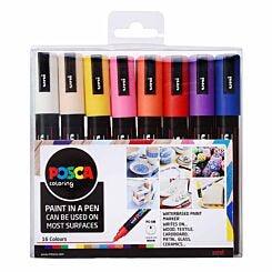 Uni Posca Marker Pen PC-5M 1.8mm 16 Pack Assorted