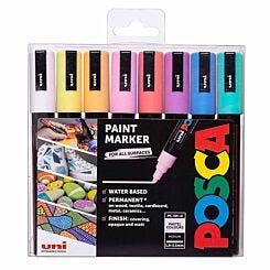 Uni Posca Marker Pen PC-5M 1.8mm 8 Pack Pastels