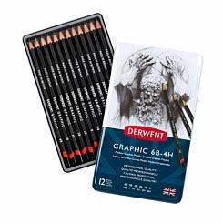 Derwent Graphic Pencils Medium Tin of 12