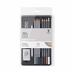 Winsor and Newton Studio Sketching Pencils Tin of 10