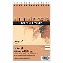 Daler Rowney Ingres 3 Whites Spiral Pad 9 x 6 inch