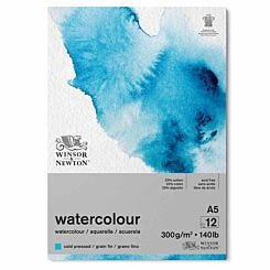 Winsor and Newton Watercolour Gummed Pad Cold Press A5