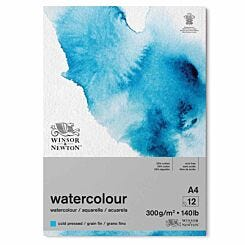 Winsor and Newton Watercolour Gummed Pad Cold Press A4
