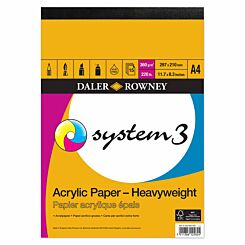 Daler Rowney System3 Heavyweight Acrylic Pad A4