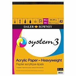 Daler Rowney System3 Heavyweight Acrylic Pad A3