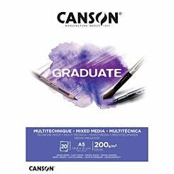 Canson Graduate White Mixed Media Pad A5