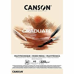 Canson Graduate Yellow Ochre Mixed Media Pad A5
