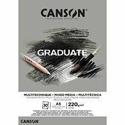 Canson Graduate Grey Mixed Media Pad A5