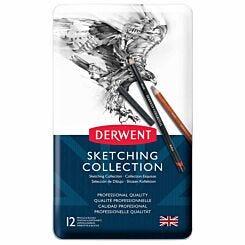 Derwent Sketching Collection Tin of 12