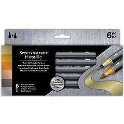 Spectrum Noir Metallic Markers Precious Metals Pack of 6