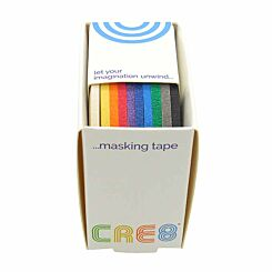 CRE8 Masking Tape Assorted Pack of 10 3mm x 8m