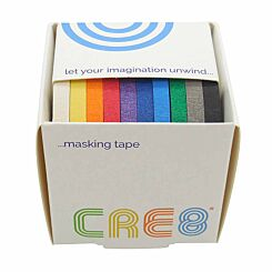 CRE8 Masking Tape Assorted Pack of 10 6mm x 8m