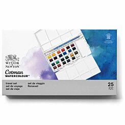 Winsor and Newton Cotman Watercolour Painting Plus Set 24 Half Pans