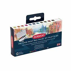 Derwent Inktense Paint 12 Pan Palette 02