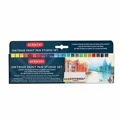 Derwent Inktense Paint 24 Pan Studio Set