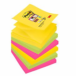 Post-it Super Sticky Z-Notes 90 Sheets Pack of 6 Rio