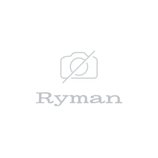 Ryman Black Flat Pencil Case with Red Zip