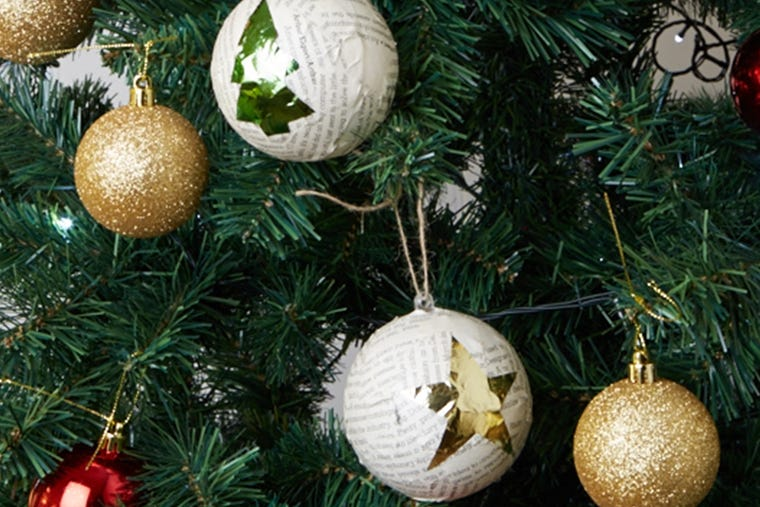 DIY Christmas Make Your Own Christmas Tree Baubles