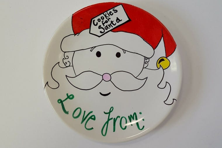 DIY Christmas Make Your Own Christmas Plate