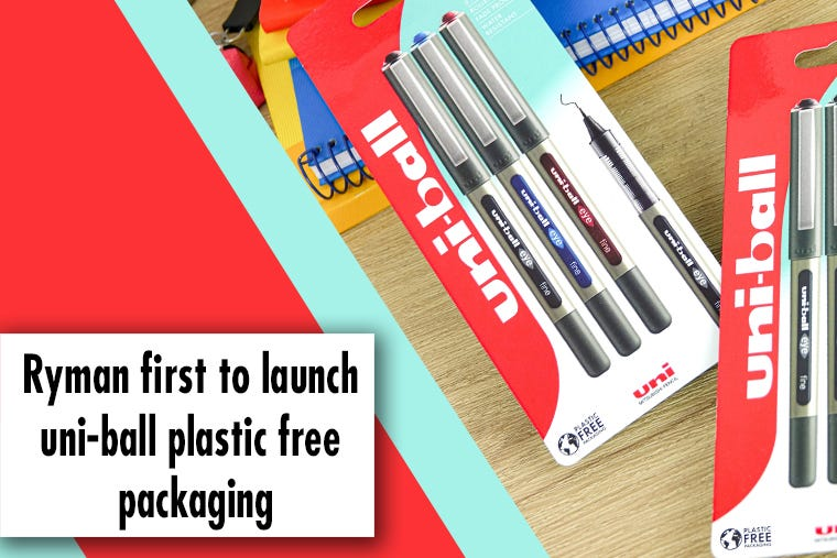 First in the UK to Launch uni-ball Plastic Free Packaging